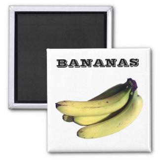 Bananas - (Fridge Magnet Sqare)