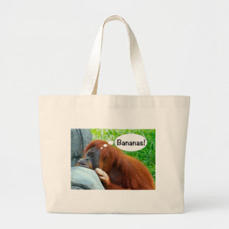 Bananas! Large Tote Bag