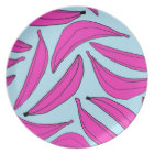Bananas Plate in Hot Pink