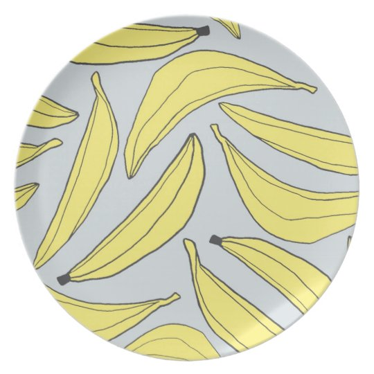 Bananas Plate in Yellow