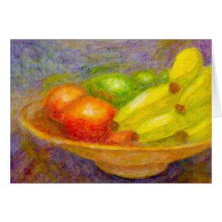 Bananas, Tomatoes and Limes, Greeting Card