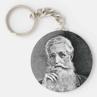 Bancroft ~ George Historian Diplomat Basic Round Button Key Ring