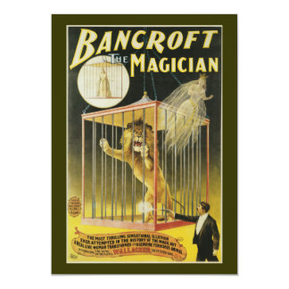 Bancroft the Magician c 1897 Card