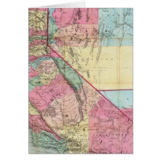 Bancroft's Map Of California, Nevada Card
