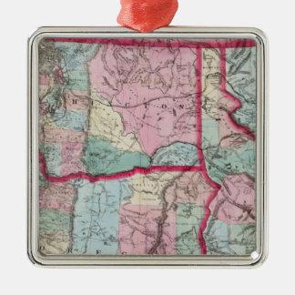 Bancroft's Map Of Oregon, Washington, Idaho Christmas Ornament