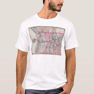 Bancroft's Map Of Oregon, Washington, Idaho T-Shirt