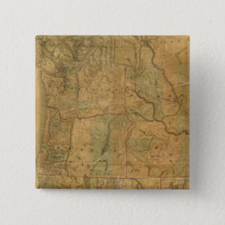 Bancroft's Map Of The Pacific States 15 Cm Square Badge