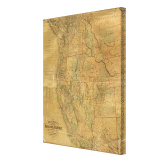 Bancroft's Map Of The Pacific States Canvas Print