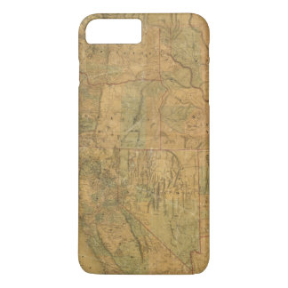 Bancroft's Map Of The Pacific States iPhone 8 Plus/7 Plus Case