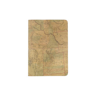 Bancroft's Map Of The Pacific States Passport Holder