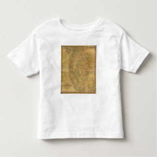 Bancroft's Map Of The Pacific States Toddler T-Shirt