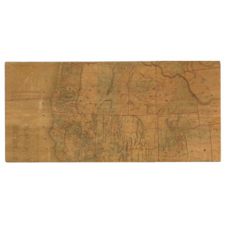 Bancroft's Map Of The Pacific States Wood USB Flash Drive
