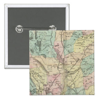Bancroft's New Map Of Central California 15 Cm Square Badge