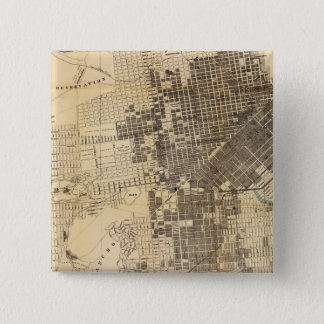 Bancroft's official Guide Map of San Francisco 15 Cm Square Badge