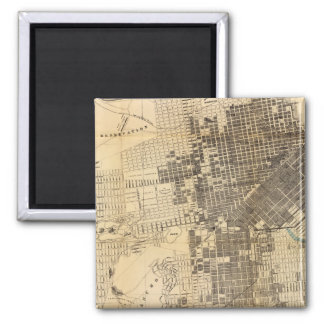 Bancroft's official Guide Map of San Francisco Square Magnet
