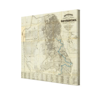 Bancroft's Official San Francisco City Map Canvas Print