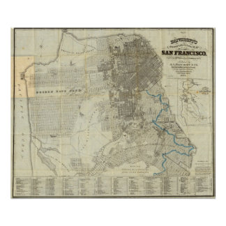 Bancroft's Official San Francisco City Map Poster