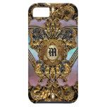 Bancroftyne Drama Girl Damask iPhone 5 Cases