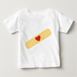 Band-Aid With A Red Heart Baby T-Shirt