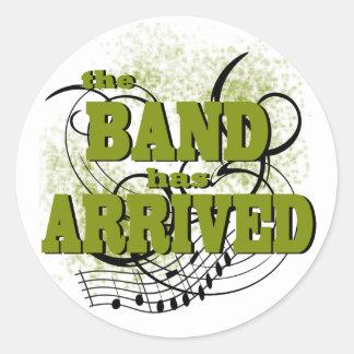 Band Arrived/ Gold Round Sticker