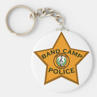 Band Camp Police Basic Round Button Key Ring
