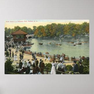 Band Concert, Delaware Park, Buffalo 1911 Vintage Posters