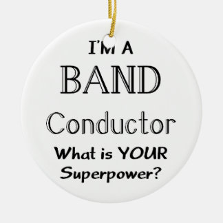 Band conductor christmas ornament