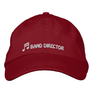 Band Director Hat Embroidered Baseball Cap