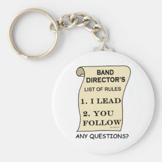 Band Director List Of Rules Basic Round Button Key Ring