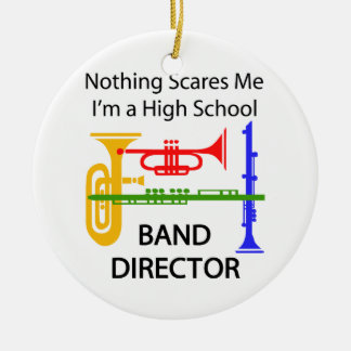 Band Director Round Ceramic Decoration