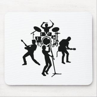 Band drummer guitarist singer mouse pad
