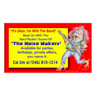 Band For Hire Pack Of Standard Business Cards