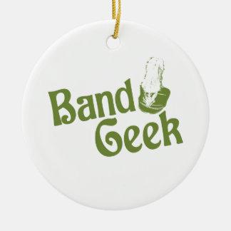 Band Geek Round Ceramic Decoration
