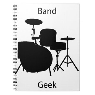 Band geek spiral note book