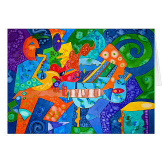 """""""Band Groove"""" Original painting by R.A.Brown© Greeting Card"""
