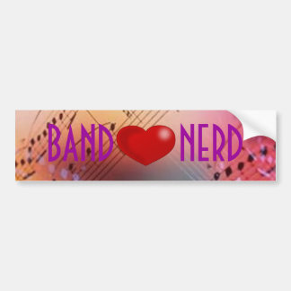 Band *heart* Nerd Bumper Sticker
