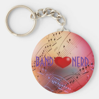 Band *heart* Nerd Keychain