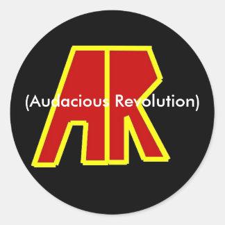 Band Logo, (Audacious Revolution) Round Sticker