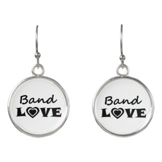 Band Love Earrings