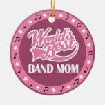 Band Mum Gift For Her Round Ceramic Decoration