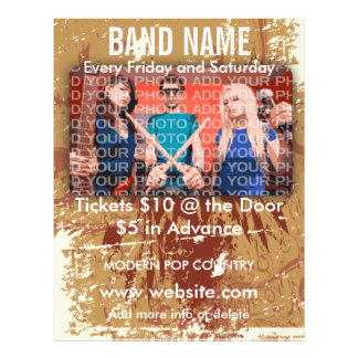 Band Name Music Flyer