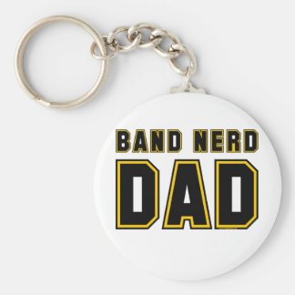 Band Nerd Dad Basic Round Button Key Ring