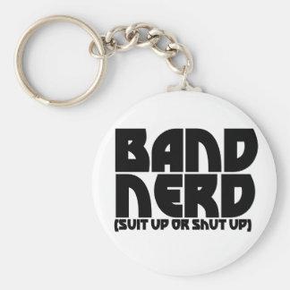 Band Nerd Basic Round Button Key Ring