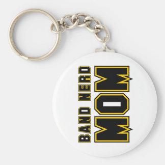 Band Nerd Mom Basic Round Button Key Ring