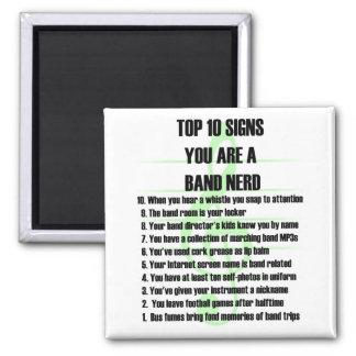 Band Nerd Top 10 Magnet