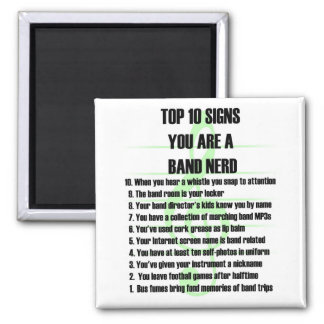 Band Nerd Top 10 Square Magnet