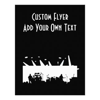 Band On Stage Concert Silhouette B&W 21.5 Cm X 28 Cm Flyer