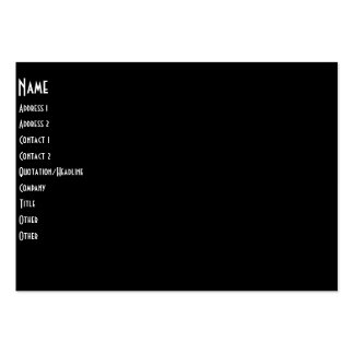 Band On Stage Concert Silhouette B&W Pack Of Chubby Business Cards