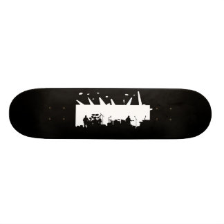 Band On Stage Concert Silhouette B&W Skate Boards