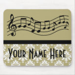 Band or Choir Personalised Music Damask Mousepad